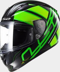 LS2 Arrow R EVO ION Matt Black Fluo Green