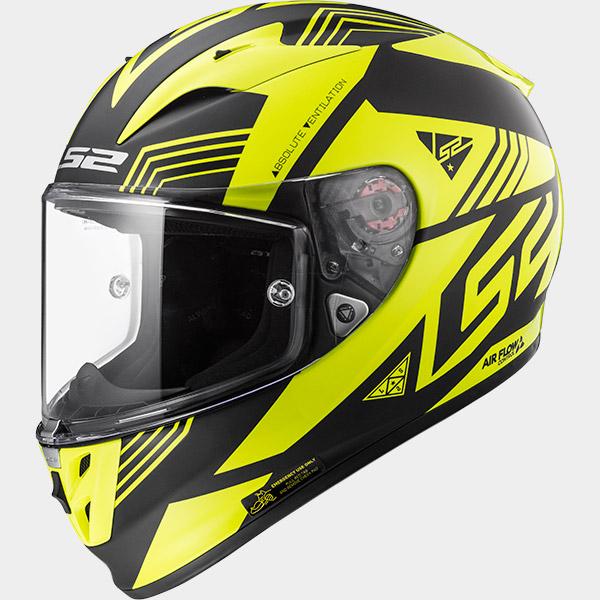 LS2 Arrow R EVO Neon Black Fluo Yellow