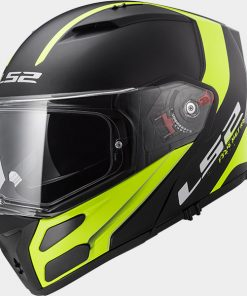 LS2 Metro Rapid Flip Up Hi Vis Yellow