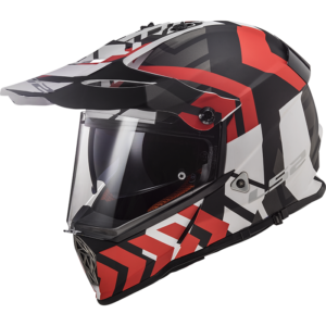 LS2 Pioneer Xtreme Matt Black Red Matt Black Red