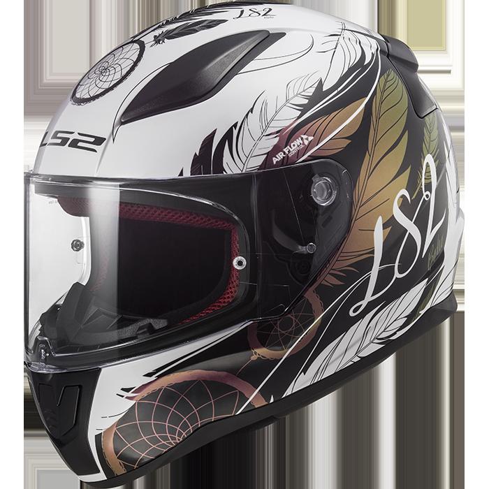 ls2 rapid boho white black pink ff353 full face helmets. Black Bedroom Furniture Sets. Home Design Ideas