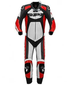 Spidi GB Tronik Wind Pro Leather Suit-Black/Red/White