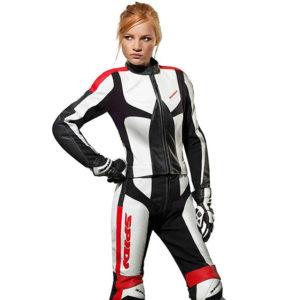 Spidi IT Poison Lady Leather 2P/C Suit-Blk/Fuchsia-Special Order