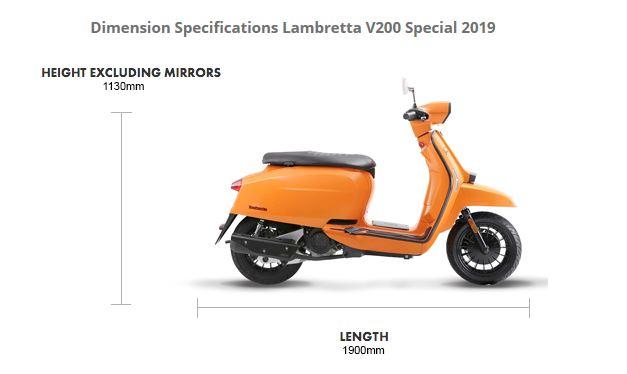 Lambretta V200 Special Dimensions