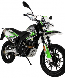 Motorini SMR 125i - white green right front view